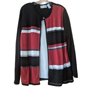 Alfred Dunner 2-in-1 Layered Look Sweater - 1X